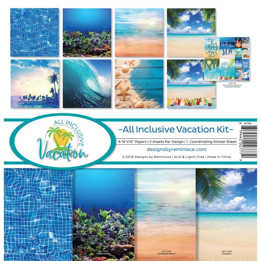 Reminisce - 12x12 Collection Kit - All Inclusive Vacation