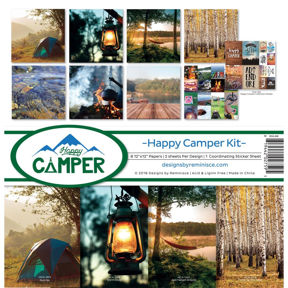 Reminisce - 12x12 Collection Kit - Happy Camper