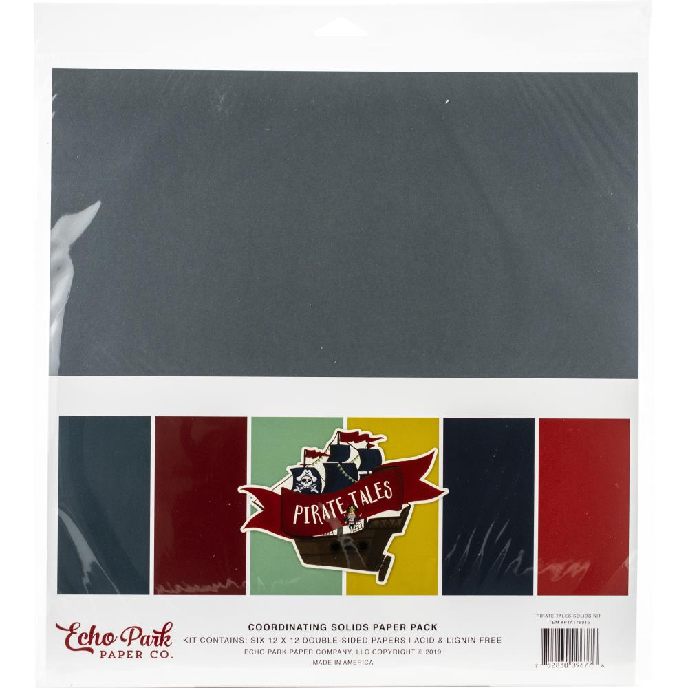 Echo Park Paper - 12x12 Collection Pack - Pirate Tales Solids