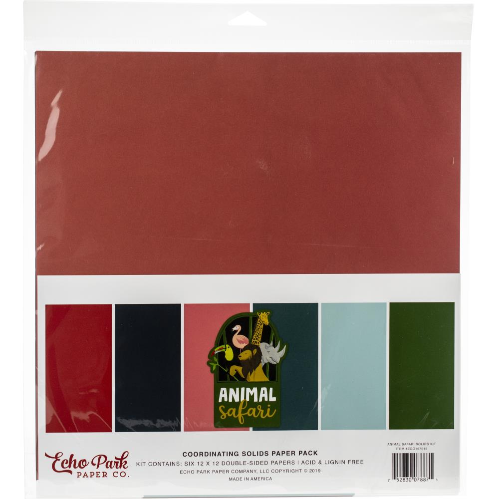 Echo Park - 12x12 Collection Pack - Animal Safari Solids