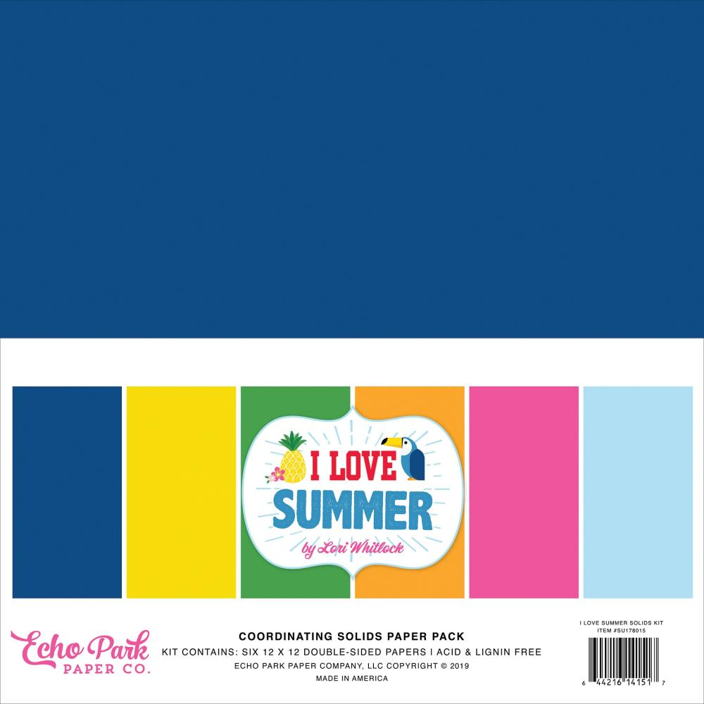Echo Park Paper - 12x12 Collection Pack - I Love Summer Solids
