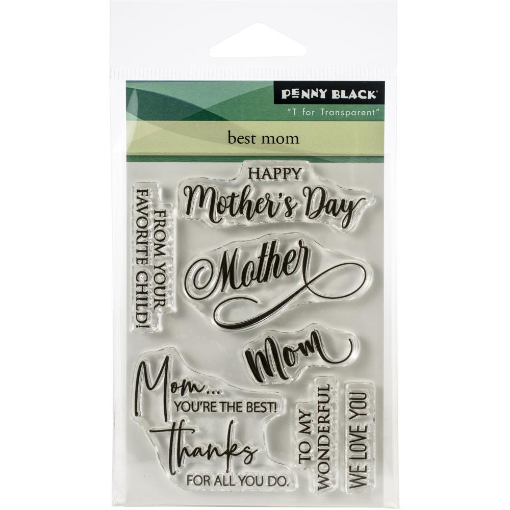 Penny Black -Clear Stamps-Best Mom