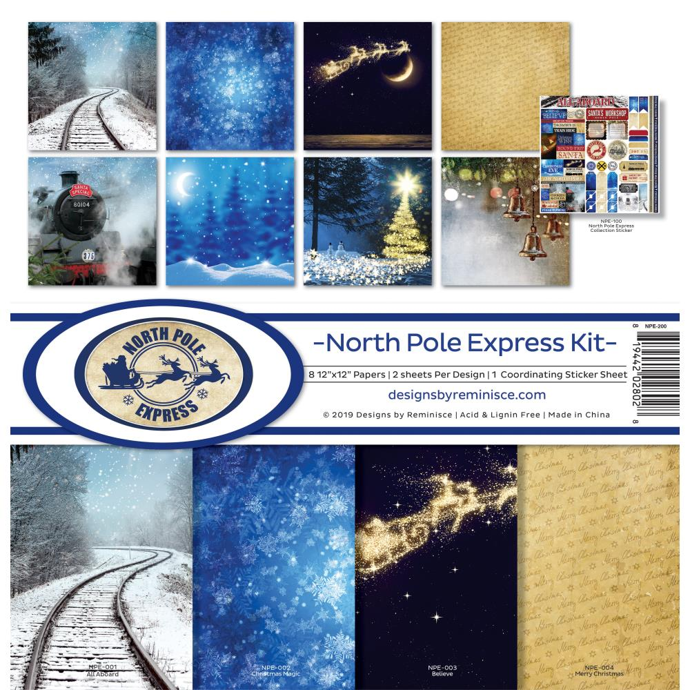 Reminisce - 12x12 Collection Kit - North Pole Express
