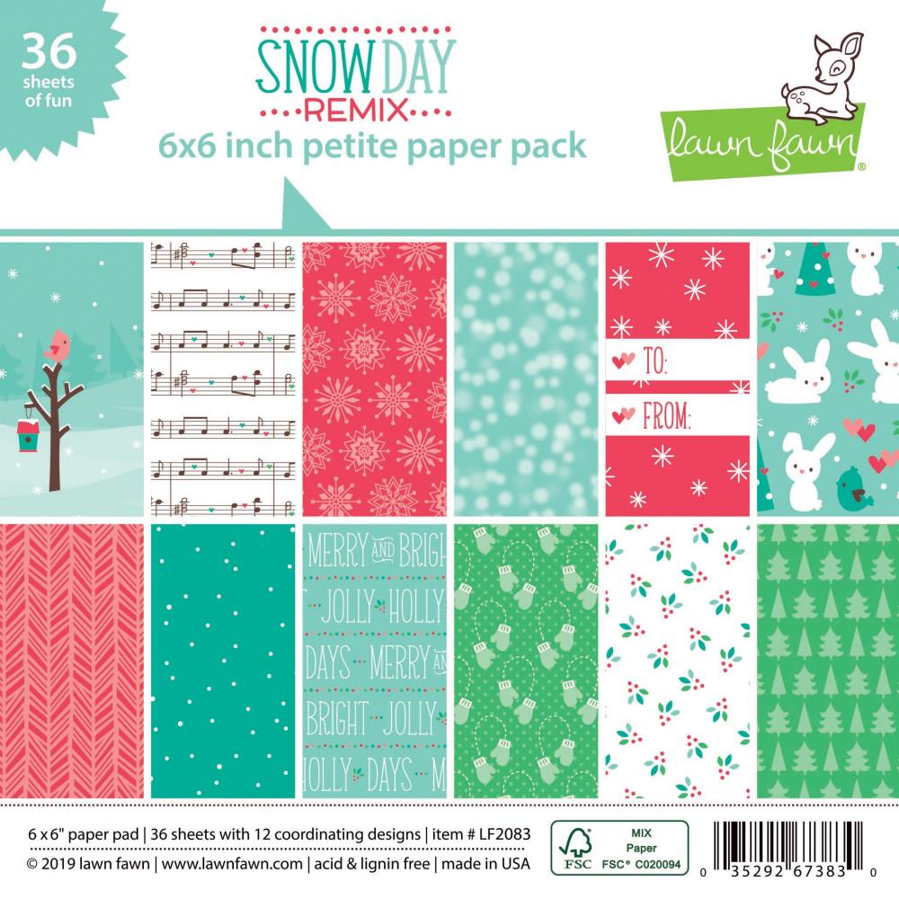 Lawn Fawn - 6x6 Paper Pad - Snow Day Remix