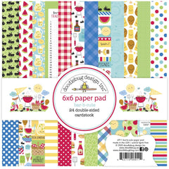 New Arrivals - Doodlebug Designs - 6X6  Collection Pack  Bar- B- Cute