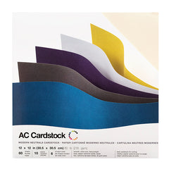 American Crafts-12X12 Cardstock -Variety Pack (60pk) - Smooth -Modern Neutrals