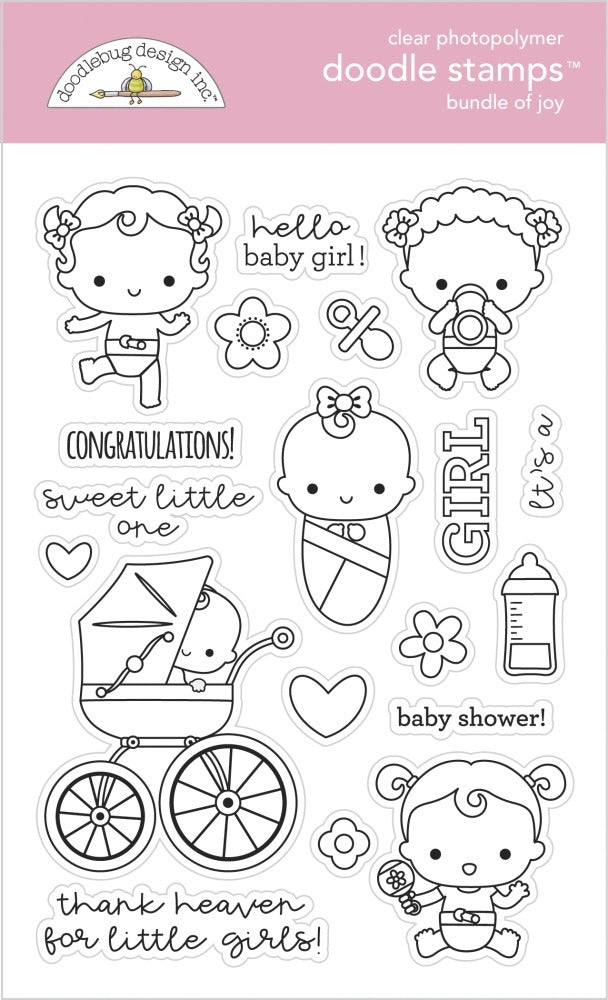 New Arrival- Doodlebug Designs - Stamp and Die  Set - Bundle of Joy