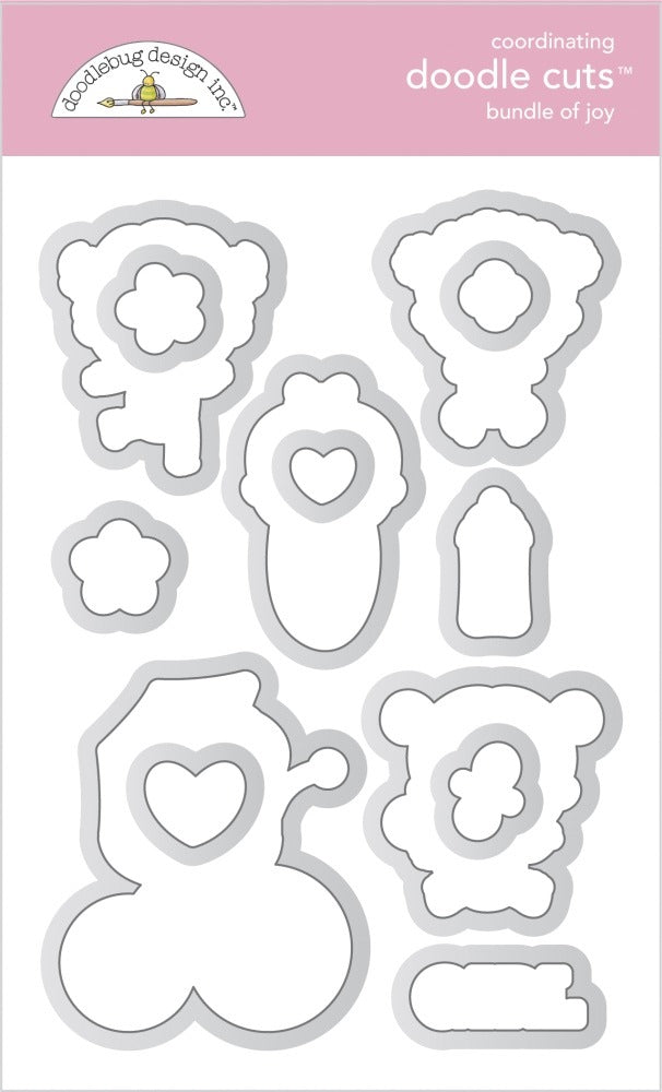 New Arrival  - Doodlebug Designs - Doodle Cuts  Stamp and Die Set - Bundle of Joy