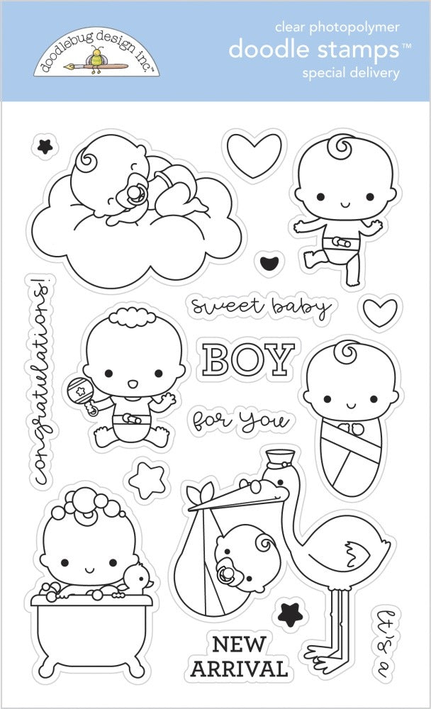 New Arrival- Doodlebug Designs - Stamp Set - Special Delivery