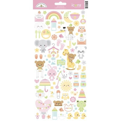 New Arrival - Doodlebug Designs - Icon Cardstock Stickers- Bundle of Joy