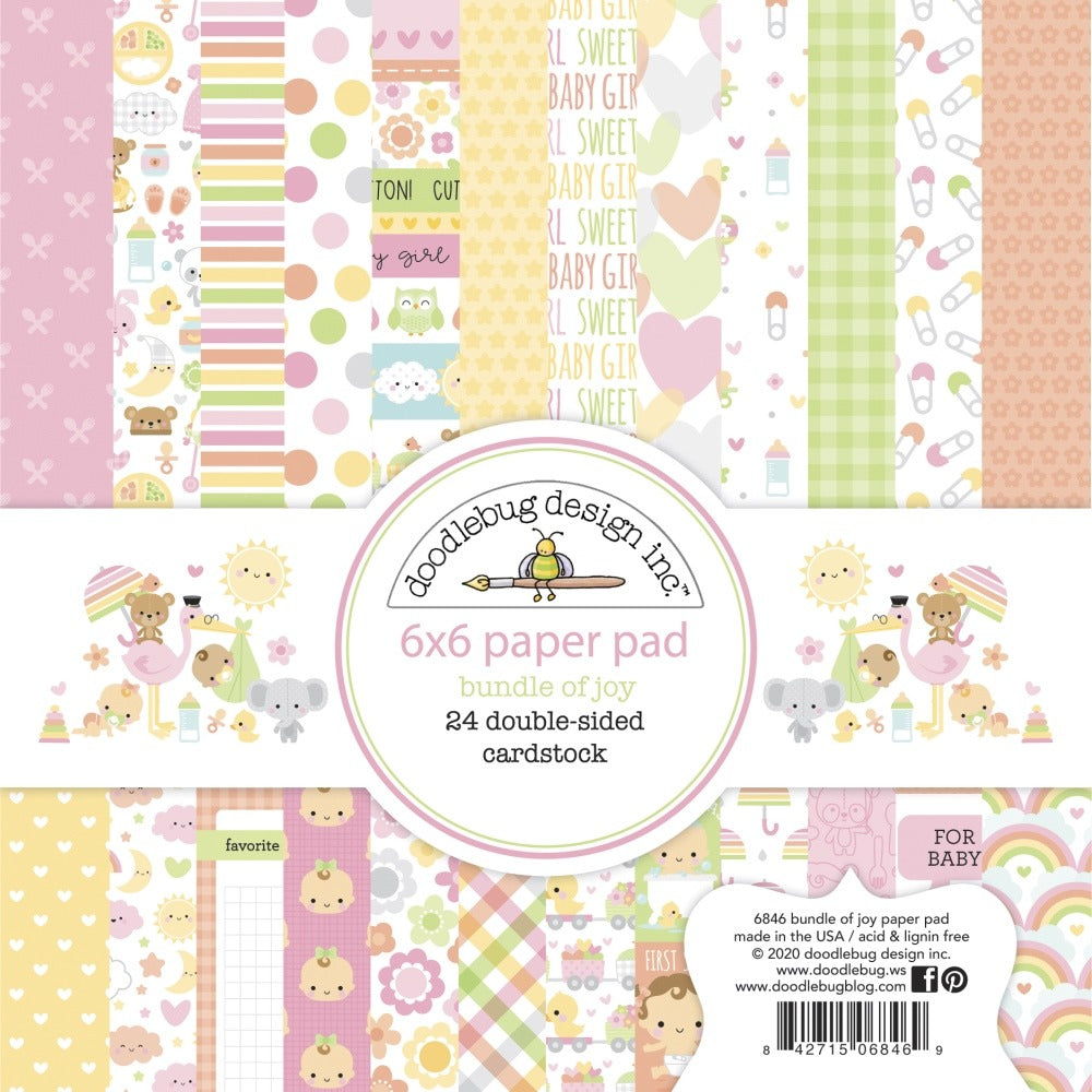 New Arrivals - Doodlebug Designs - 6X6  Collection Pack - Bundle of Joy