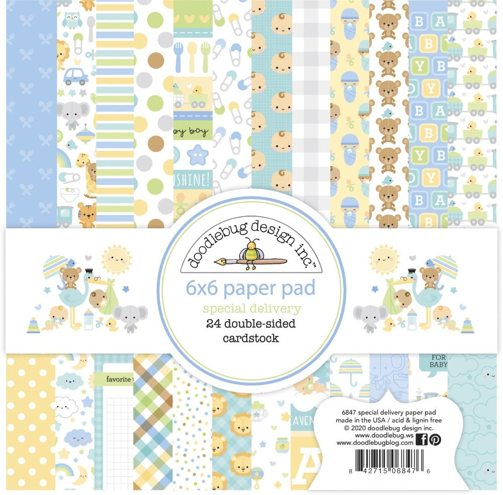 New Arrival - Doodlebug Designs - 6X6  Collection Pack - Special Delivery