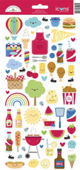 New Arrival- Doodlebug Designs - Icon Cardstock Stickers- Bar- B- Cute