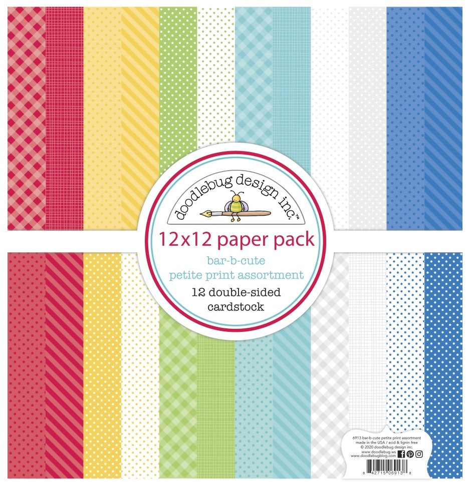 PRE-ORDER - Doodlebug Designs - 12 x 12 Collection Pack - Bar- B- Cute- Petite Prints