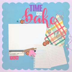 Time to Bake 12x12 Premade Layout Kit