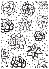 Kaisercraft-Embossing Folder- Succulents