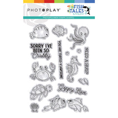 Photo Play-Stamp and Die Bundle-Fish Tales
