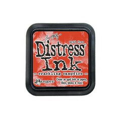 New Arrival- Tim Holtz- Distress Ink Pad  3X3 inches -Crackling Campfire