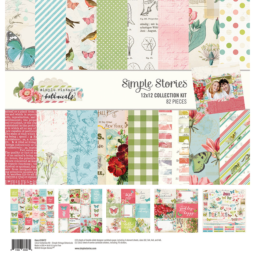 Simple Stories:  Collection Kit 12x12 - Simple Vintage Botanicals