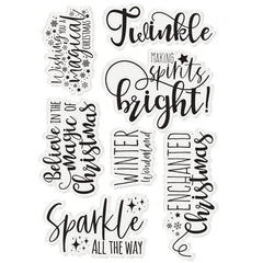 Sara Signature -Enchanted Christmas- Stamp Set -Sparkle all the Way