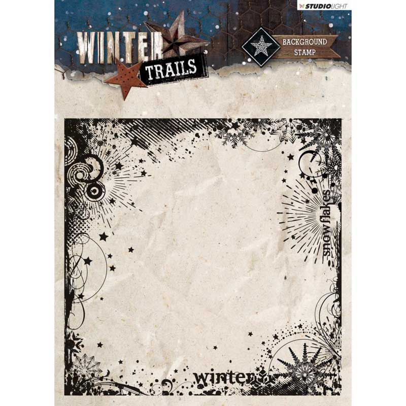 Studio Light - Winter Trails Background Stamp