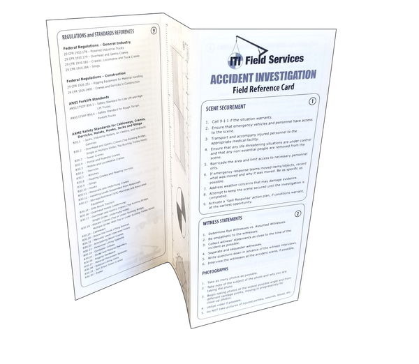 Accident Investigation Field Reference Card