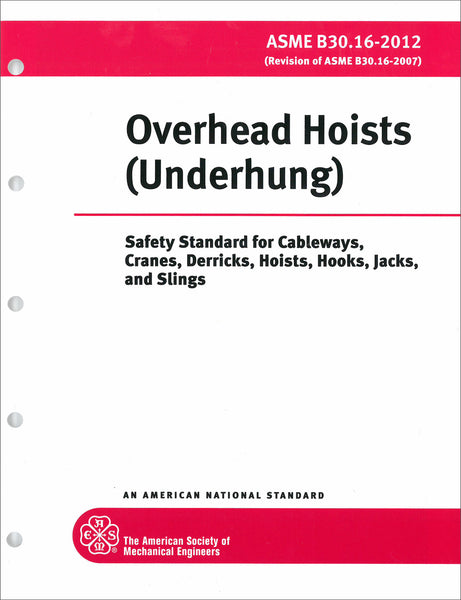 B30.16 Overhead Underhung and Stationary Hoists