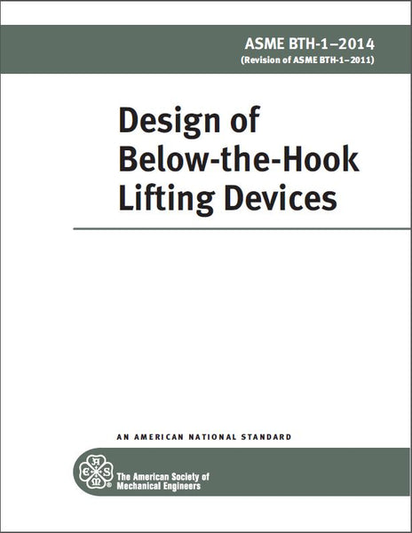 BTH-1 Design of Below-the-Hook Lifting Devices