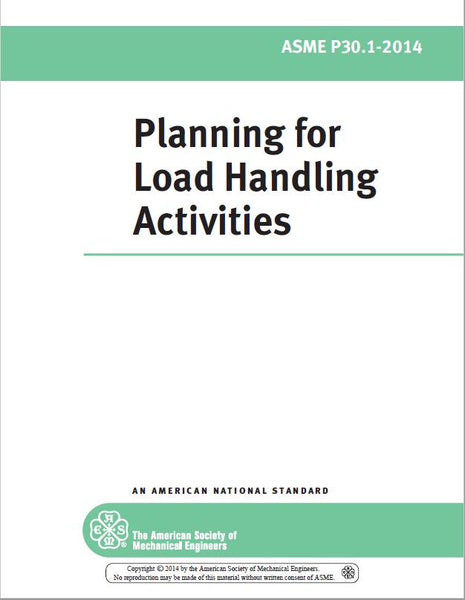 P30.1 Planning for Load Handling Activities