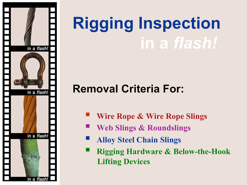 In A Flash! Rigging Inspection Training Program (PowerPoint) - ITI ...