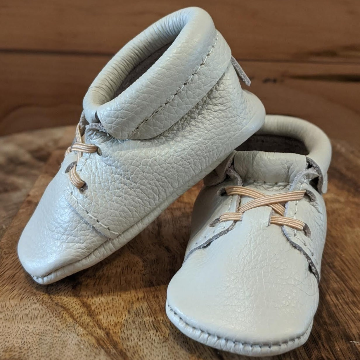 Cream Oxford Moccasins