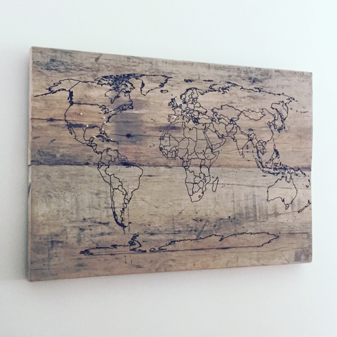 World Map - Pin Your Travels