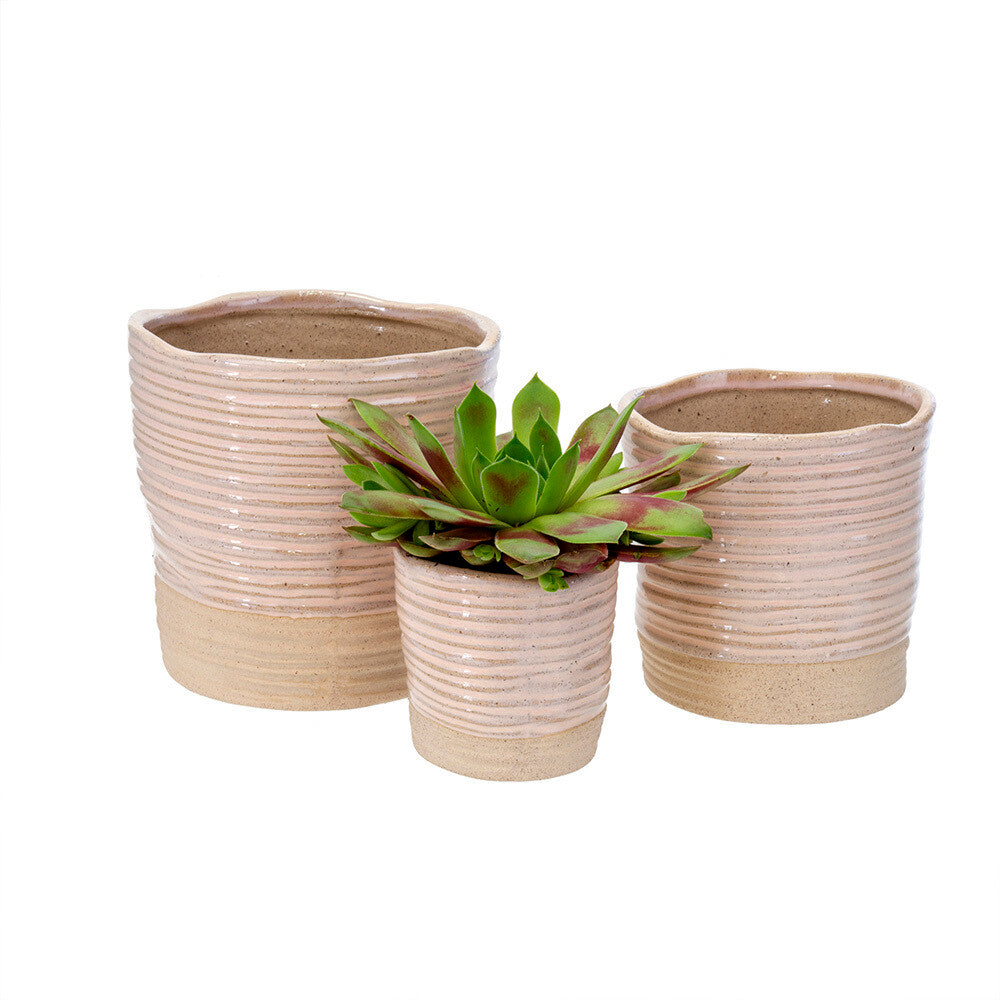 Blush Leah Ribbed Pot