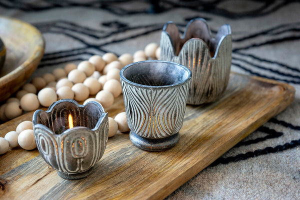 Rustic Votive / Mini Planter - 2 Styles