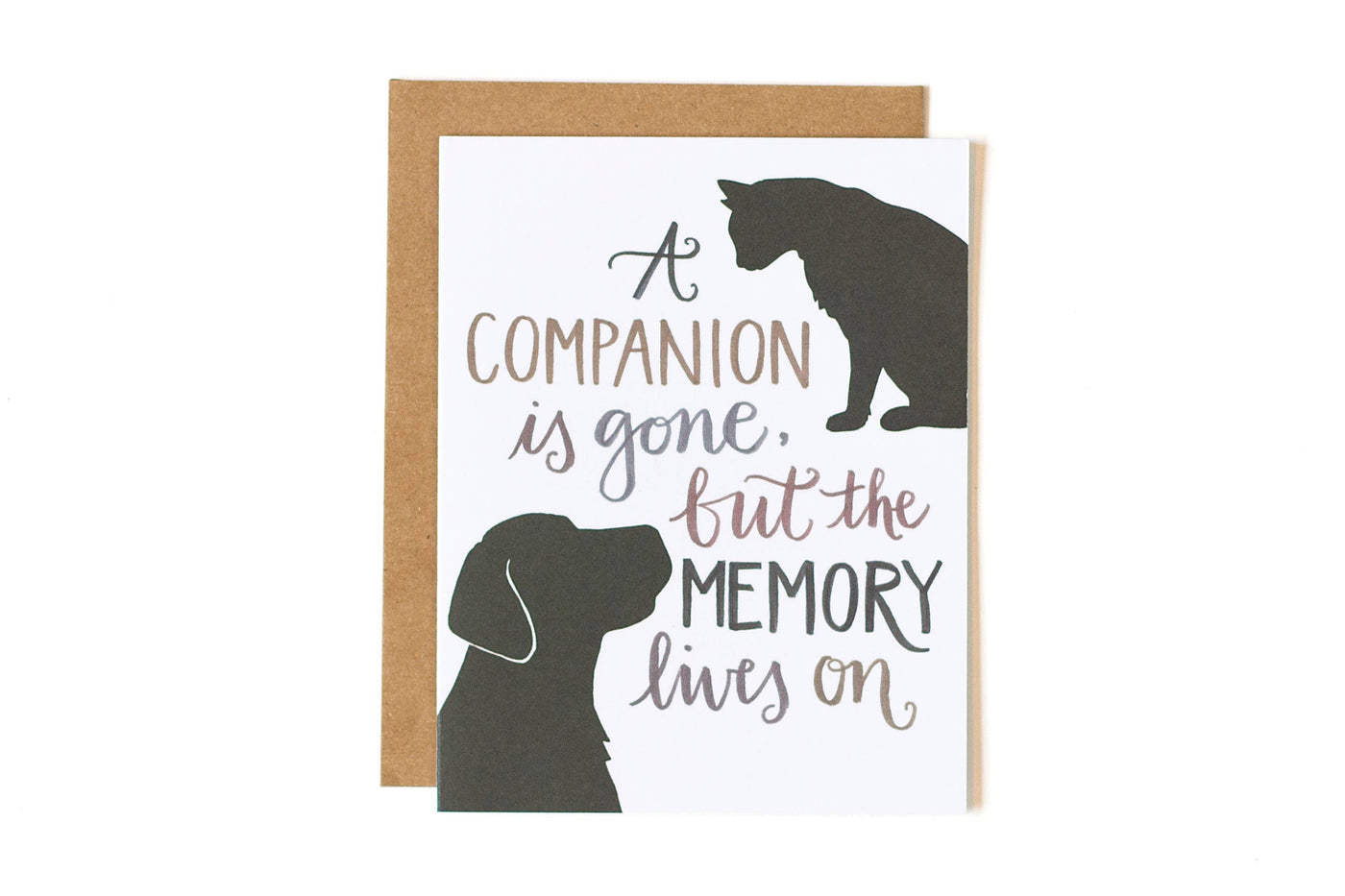 A Companion is Gone, but the Memory Lives On Sympathy Pet Card