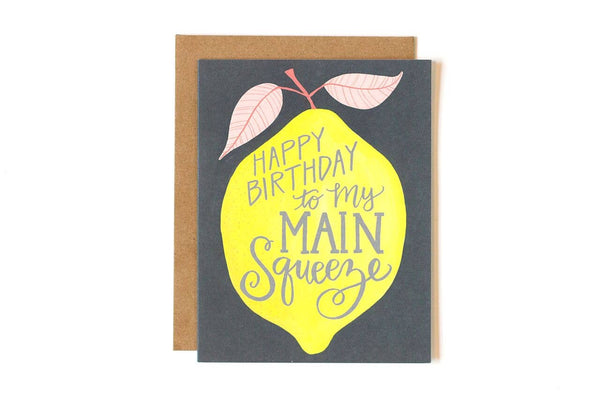Lemon Birthday Greeting Card