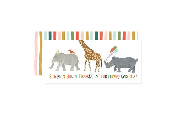 Animals On Parade Kids' Happy Birthday Card