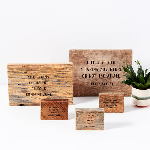 Cheers Collection | Wood Desk Quotes