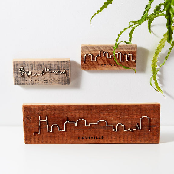 Reclaimed Barn Wood City Scape