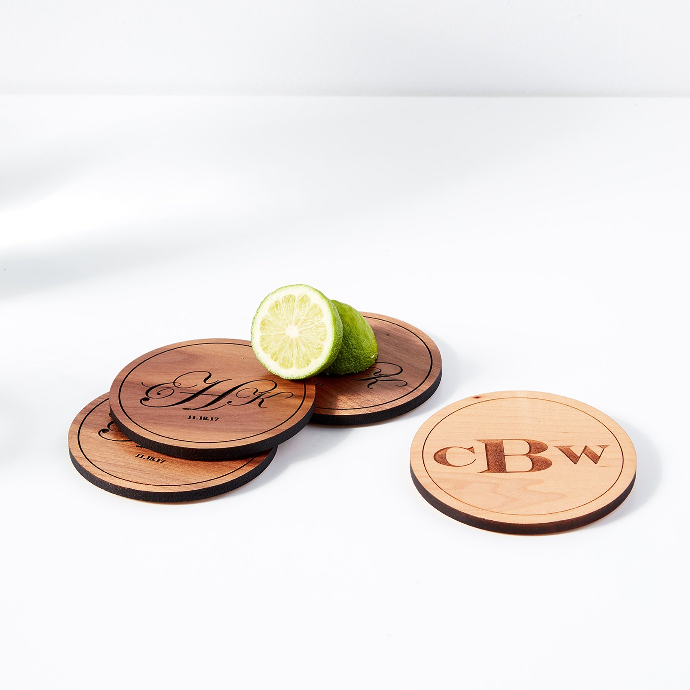 Personalized Monogram Coasters