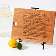 Personalized Recipe or Handwritten Engrave Cutting Board