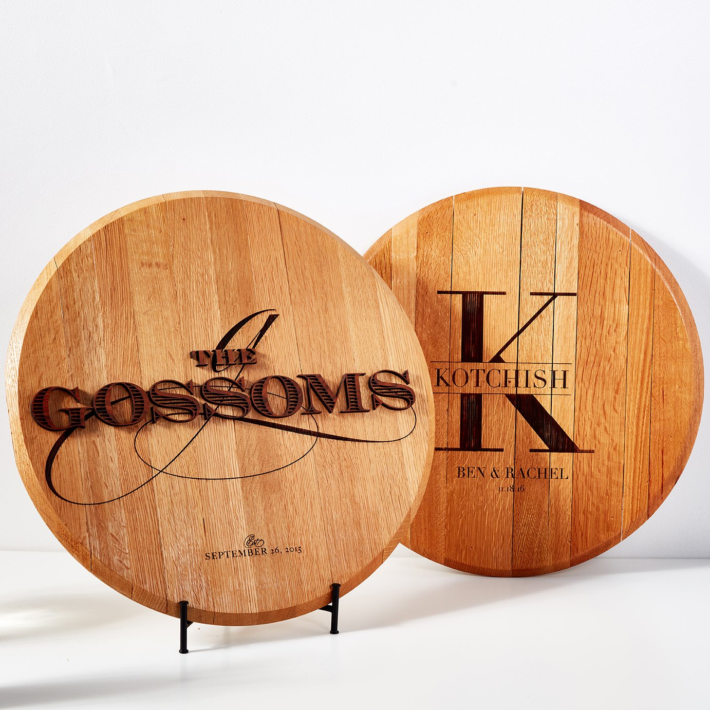 Personalized Barrel Top Designs