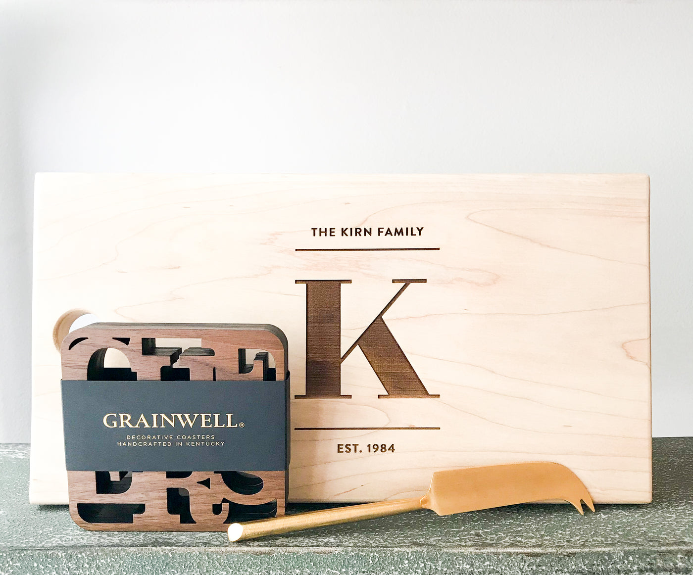 Personalized Cheese Board Gift Set (no. 24)