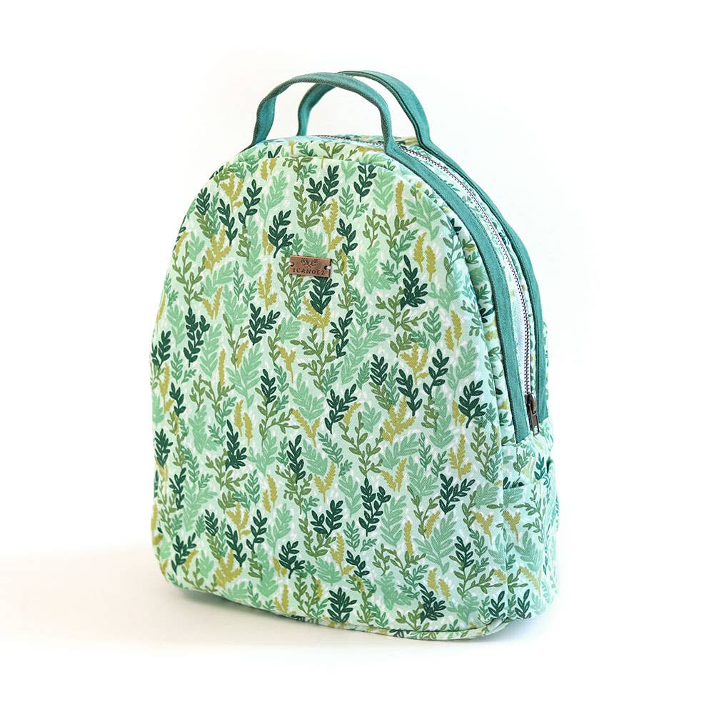 Mint Meadow Floral Backpack Handbag