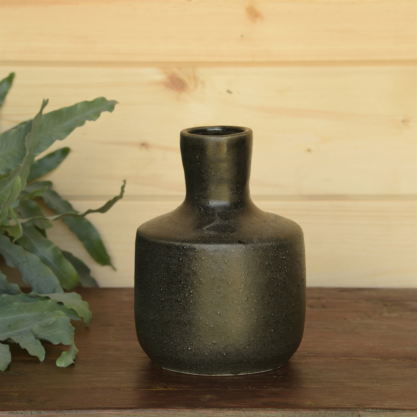 Anders Bottle Vase - Black