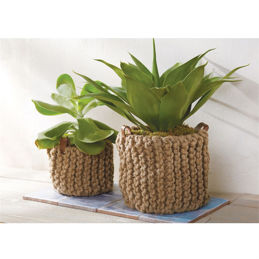 Jute Basket Pot Set