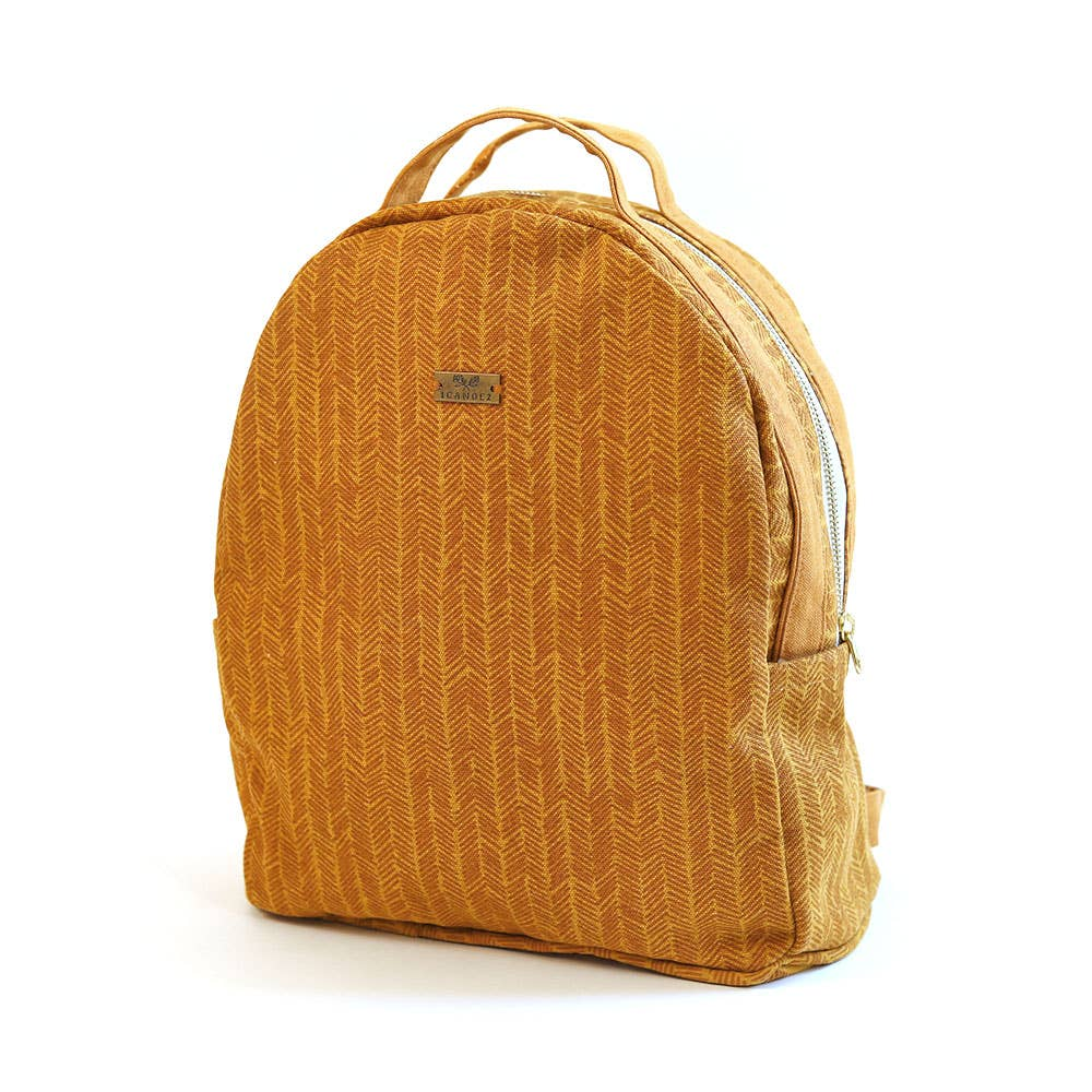Sienna Herringbone Fashion Backpack Handbag