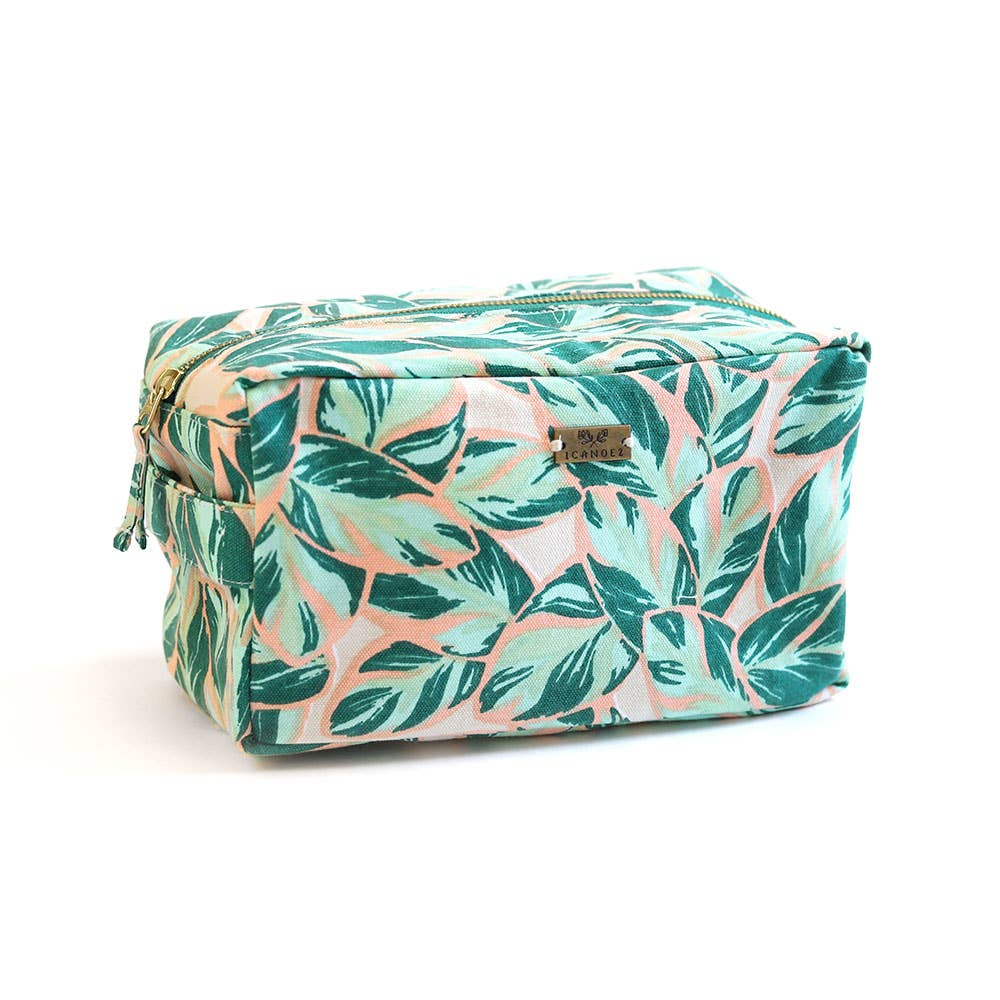 Highland Falls Leaves Cosmetic Zipper Pouch