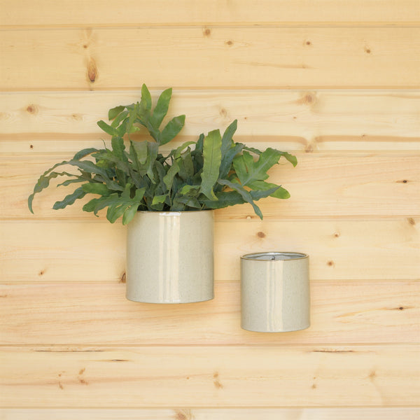 Logan Wall Vase - Flecked White