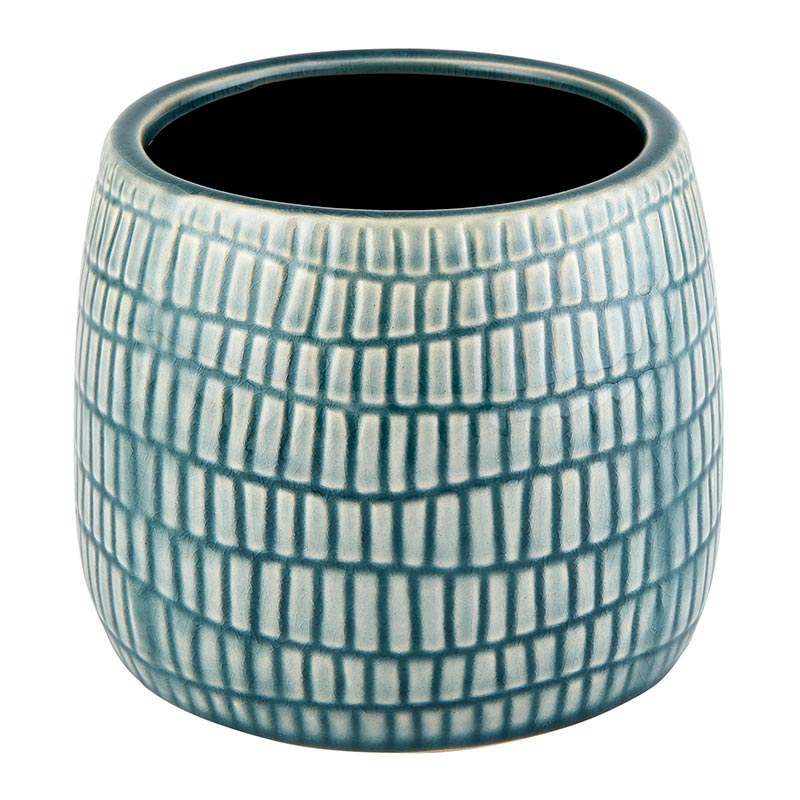Teal and Gray Planter